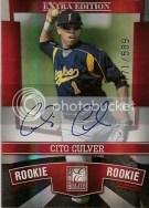 2010 Donruss Elite EEE Cito Culver Autograph RC Rookie