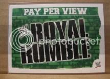 2010 Slam Attax Mayhem Royal Rumble PPV Card