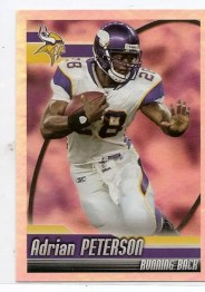 2010 Panini NFL Stickers Adrian Peterson Foil
