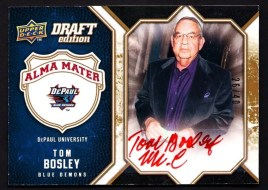 2009/10 UD Draft Edition Alma Mater Tom Bosley Autograph