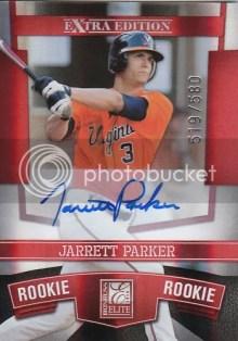2010 Donruss EEE Jarrett Parker Autograph Rookie RC