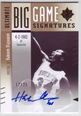 2010/11 Hakeem Olajuwon Big Game Autograph