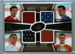 2010 UD SPx Fantastic Foursome Bradford/Tebow/Clausen/McCoy