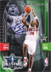 2009/10 Panini Adrenalyn XL Kobe Bryant Autograph All-Star Variation Card