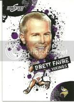 2010 Score Brett Favre NFL Players Insert