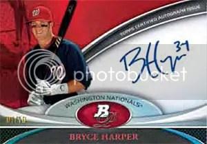 2011 Bowman Platinum Baseball Bryce Harper Autograph