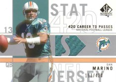 2001 Sp Authentic Stat King Dan Marino Jersey