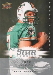2008 Chad Henne First Edition Star Rookie RC