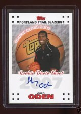 07/08 Gred Oden Rookie Photo Shoot Autograph
