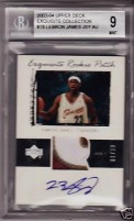 2003/04 Upper Deck Exquisite LeBron James Patch Auto Rookie RC