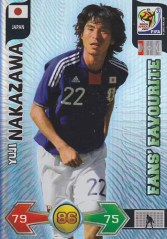 2010 Panini Adrenalyn World Cup Yuji Nakazawa Fan Favorites