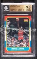 1986/87 Fleer Michael Jordan Rookie RC BGS 9.5