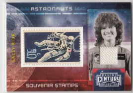 2010 Panini Century Collection SALLY RIDE STAMP
