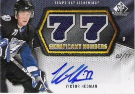 2010/11 UD Sp Game Used Victor Hedman Significant Numbers