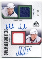 2010/11 Sp Game Used Inked Sweater SEDIN/BACKSTROM