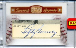 2010 Panini Century Collection Lefty Gomez Cut Autograph