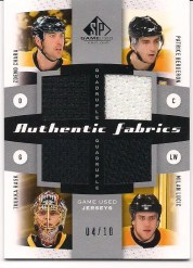 10/11 Sp Game Used Chara-Rask-Bruins Quad