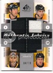 10/11 Sp Game Used Chara-Rask-Bruins Quad