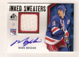 10/11 SP GAME USED MARK MESSIER AUTO INKED SWEATERS