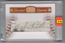 2010 Panini Century Collection Babe Ruth Cut Autograph