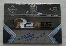 2010 Leaf Limited Sam Bradford 1/1 Rookie Auto