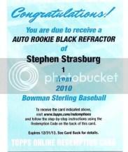 2010 Bowman Sterling Stephen Strasburg Autograph EXCH