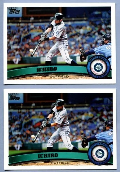 2011 Topps Series 1 Ichiro Diamond Sparkle SP Variation Card