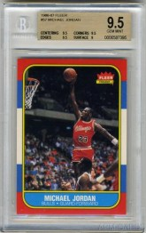 1986 Fleer Michael Jordan Rookie BGS 9.5