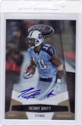 2010 Panini Certified Football Kenny Britt Mirror Gold Autograph Card