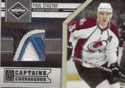2010/11 Panini Limited Paul Stastny Captains Courageous
