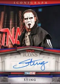2010 TNA Icons Iconigraph Sting Autograph