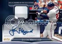 2011 Topps Series 2 Jason Heyward Autograph Jersey Card
