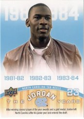 2010-11 Michael Jordan Upper Deck UNC Jordan Years