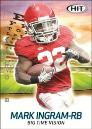 2011 Sage Mark Ingram Big Time Vision Insert Card