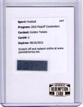 2011 Panini Contenders Aaron Rodgers Golden Ticket