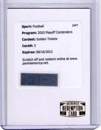 2010 Panini Playoff Contenders Aaron Rodgers Golden Ticket Redemption Card Front