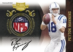 2010 Plates & Patches Peyton Manning Prime Jersey NFL Shield