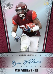 2011 Leaf Metal Draft Ryan Williams Autographed Rookie /5