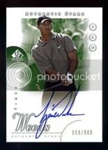 2001 Upper Deck SP Authentic Tiger Woods Autograph RC #/900