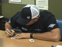 2010 Topps Allen & Ginter Avery Jenkins Disc Golf Champion Signing Cards