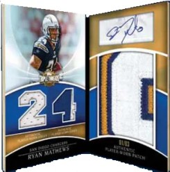 2010 Topps Triple Threads Philip Rivers Jumbo Plus Patch Auto