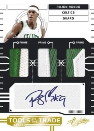 2010/11 Panini Absolute Memorabilia Rajon Rondo Tools of the Trade Autograph Jersey Card