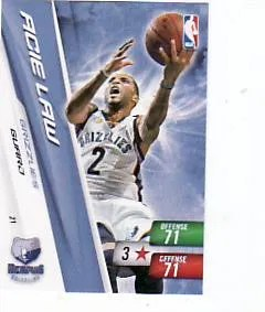 2010-11 Adrenalyn NBA Series 2 Acie Law Code