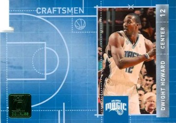 2010-11 Donruss Craftsmen Dwight Howard Die Cut Insert Card