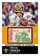 2010 Topps Magic Drew Brees Stamp of Approval #/10