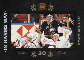 2010/11 Panini Crown Royale Ryan Miller In Harms Way Insert Card
