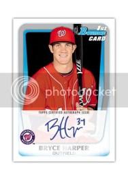2011 Bowman Bryce Harper Autograph Rookie RC Prospect