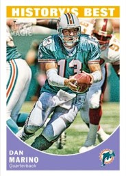 2010 Topps Magic Dan Marino History's Best Insert Card