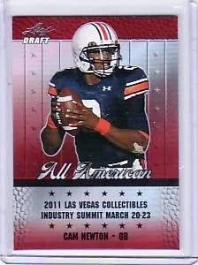 2011 Leaf Metal Draft Cam Newton Vegas Preview