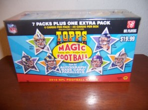 2010 Topps Magic Football Retail Blaster Box